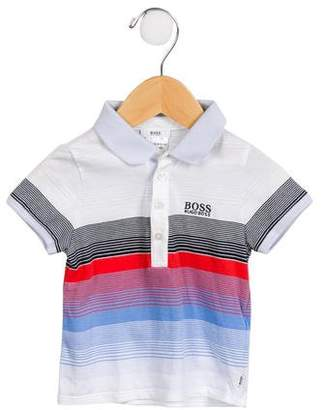 HUGO BOSS Boss by Boys' Striped Polo Shirt