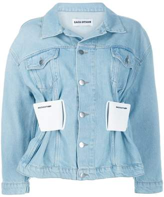 Each X Other cinched waist denim jacket
