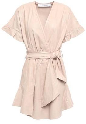 IRO Paz Wrap-effect Crinkled-leather Mini Dress
