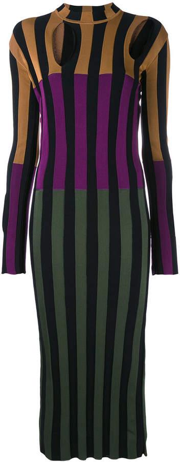 Nina Ricci colour block striped dress