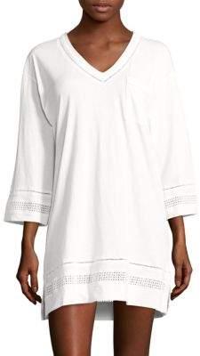 Carole HochmanOpen-Work Cotton Short Gown