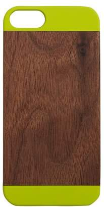 Pottery Barn Teen Wood And Pop Color Iphone 5/5s Case, Lime Green/Walnut Wood
