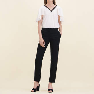 Maje Straight-cut crêpe trousers