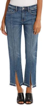 Grab NEW Jean Split Leg Soft Wash Mid Blues