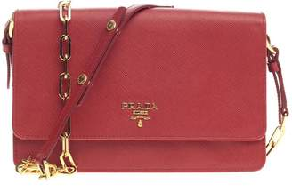 6b83a73790a1 ... discount code for pre owned at stockx prada crossbody chain wallet  saffiano fuoco red 31bac daa1f