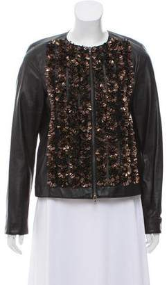 Lanvin Embellished Leather Jacket
