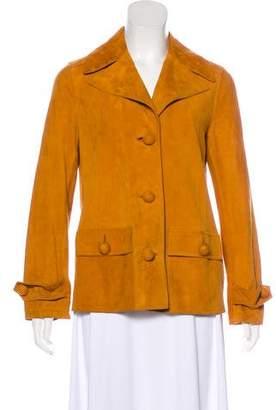 Tory Burch Suede Notch-Lapel Jacket