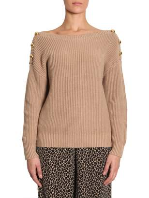 MICHAEL Michael Kors Jumper With Boat Neckline And Buttons