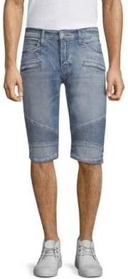 Hudson Blinder Denim Biker Shorts