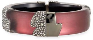 Alexis Bittar Crystal Encrusted Asymmetric Inlay Hinge Bracelet