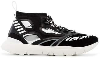 Valentino Black heroes reflex sneakers
