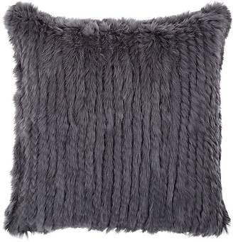 Knitted Rabbit Fur Pillow