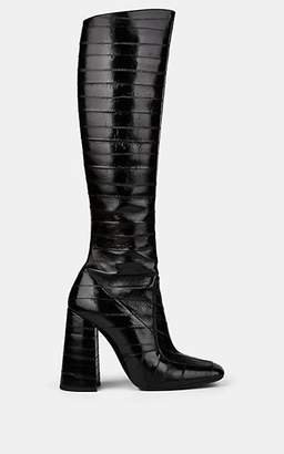 131e5bb4a Saint Laurent Women's Jane Eel Skin Knee Boots - Black