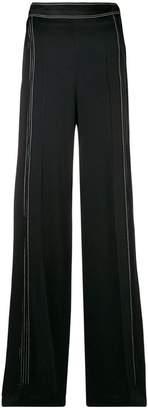 Valentino contrast-stitch palazzo pants
