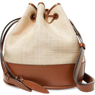 Hunting Season Raffia And Leather Shoulder Bag - Cream