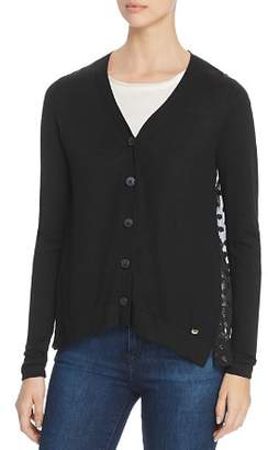 Donna Karan Sheer Back Cardigan