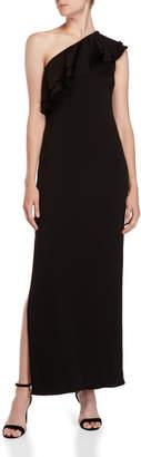 Shoshanna Black Bond One-Shoulder Dress