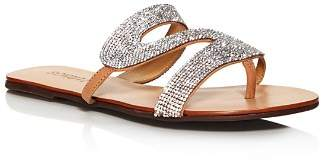 Schutz Women's Noemi Crystal Flat Sandals
