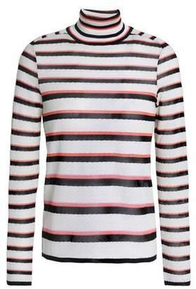 Missoni Striped Crochet-Knit Turtleneck Sweater