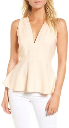Chelsea28 Back Zip Peplum Top