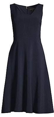 Donna Karan Women's Stretch-Crepe Fit-&-Flare Dress - Size 0