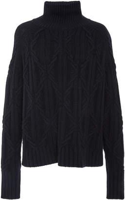 Nili Lotan Meyra Cashmere Cable-Knit Turtleneck Sweater