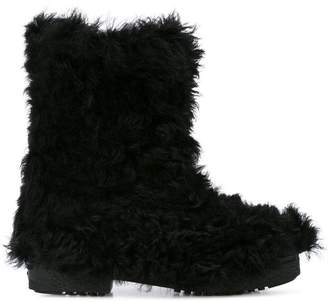 Saint Laurent fur boots