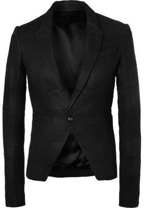 Rick Owens Black Slim-Fit Linen And Camel Hair-Blend Blazer