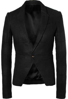 Rick Owens Black Slim-Fit Linen and Camel Hair-Blend Blazer - Black