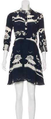 Carolina K. Long Sleeve Button-Up Mini Dress