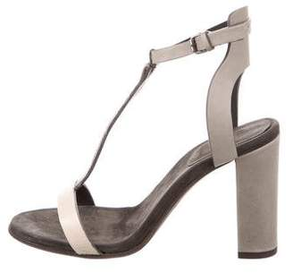 Brunello Cucinelli Monili-Trimmed T-Strap Sandals