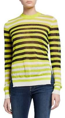 942bfb64e48 Diane von Furstenberg Kayla Striped Crewneck Sweater
