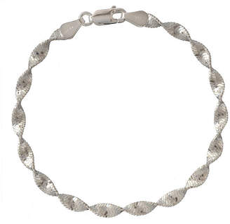 PRIVATE BRAND FINE JEWELRY Made in Italy Sterling Silver 7.5 Inch Solid Herringbone Chain Bracelet