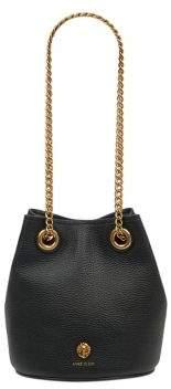 Anne Klein Textured Leather Chain Bucket Bag