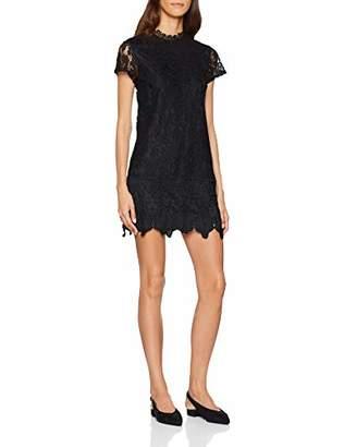 Yumi Women's DRES Lace Rope Plain Short Sleeve Dress,(Manufacturer Size: )