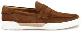 Tod's Tods Brown Suede Loafer Style Sneakers