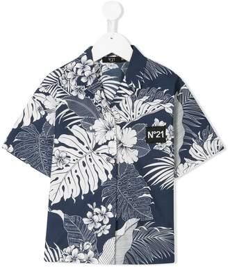 No.21 Kids floral print shirt
