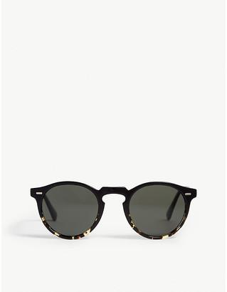 e1fe8753513bb Oliver Peoples Gregory Peck tortoiseshell round-frame sunglasses