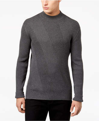 Alfani Men's Mixed Rib-Knit Mock-Neck Sweater