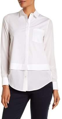 Vince Silk Trim Button Shirt
