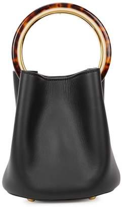 Marni Pannier Small Black Leather Bucket Bag