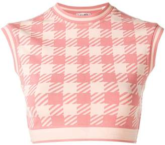 Alaia Pre-Owned houndstooth cropped top