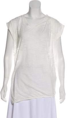 3.1 Phillip Lim Devoré Scoop Neck T-Shirt