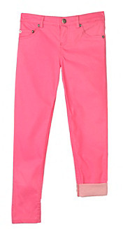 Amy Byer Girls' 7-16 Neon Pink Skinny Pants