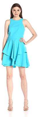 Adelyn Rae Women's Sleeveless Fit-and-Flare Layered Dress
