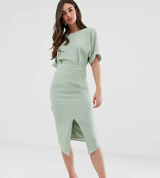 Asos Tall DESIGN Tall wiggle midi dress