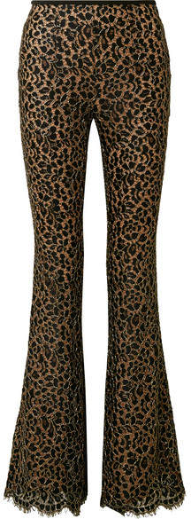Michael Kors Collection - Metallic Corded Lace Flared Pants - Black