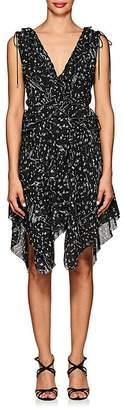 Derek Lam 10 Crosby Women's Ruffle Floral Silk Dress