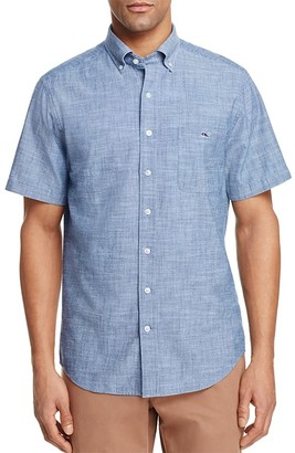 Vineyard Vines Tisbury Pond Chambray Tucker Classic Fit Button-Down Shirt $89.50 thestylecure.com