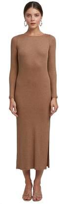 Rachel Pally Metallic Rib Joan Sweater Dress - Caramel Gold